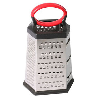 6-sided Stainless Steel Box Grater for Hard Cheese, Parmesan, Vegetable