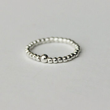 925 sterling silver ball tail ring,simple personalized tail ring,a perfect gift