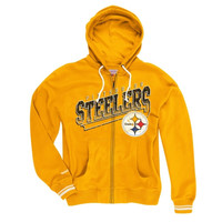 Pittsburgh Steelers Mitchell & Ness Diagonal Sweep Hooded Sweatshirt – Yellow