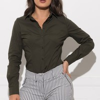 Yazz Blouse - Dark Olive