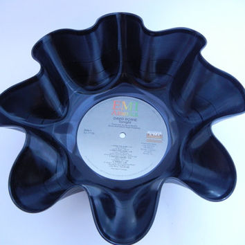 DAVID BOWIE Recycled Record Bowl (Tonight)