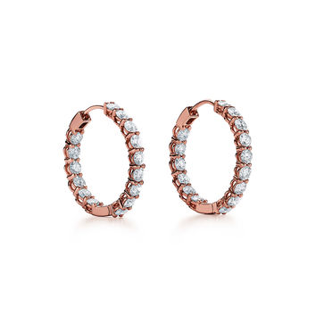 Tiffany & Co. - Diamond Hoop Earrings