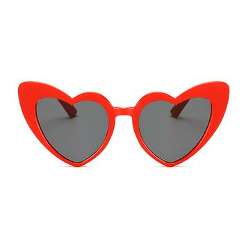 The Funky Heart Sunglasses Red