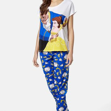 Women's Topshop Beauty & The Beast Pajama Set