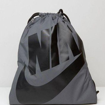 DCCKJH2 Nike Fashion Men Women Drawstring Backpack In Grey