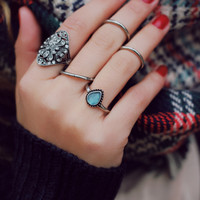 Bejeweled Beauty Ring Set