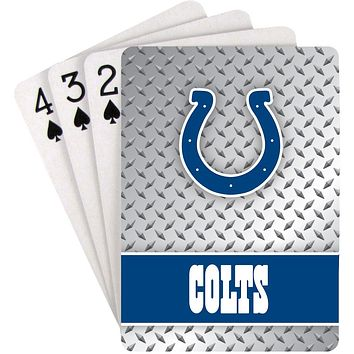 Indianapolis Colts Playing Cards Diamond Plate