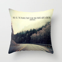 WINDING ROADS ON HWY 101  Throw Pillow by Tara Yarte  | Society6