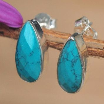 Faith Earrings - Turquoise (BJE006)