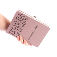 Dictionary of Fashion Book Clutch