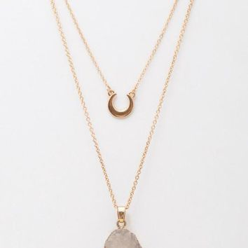 Double Layer Pendant Necklace