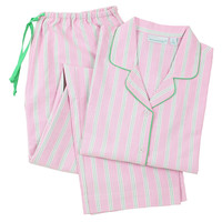 Palmer Long Sleeve Pajamas, Pink/Green, Pajamas