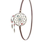 Brown Combo Dreamcatcher Charm Headband by Charlotte Russe
