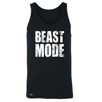 Zexpa Apparel™ Beast Mode On  Men's Jersey Tank Workout Fitness Bodybuild Sleeveless