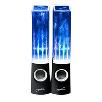 NEW Supersonic Portable Dancing Water Speakers Black AUX / USB Input LED 3 Watt
