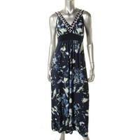 Style & Co. Womens Printed Sleeveless Maxi Dress