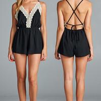 Never Broke A Heart Romper - Black
