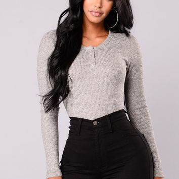 Alma Top - Heather Grey