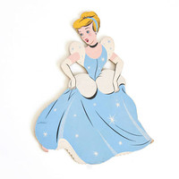 Vintage 1950s Cinderella Wall Hanging, Disney Dolly Toy Co Cardboard Cutout, Disneyana Decor Kid's Baby's Room