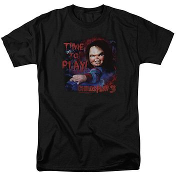 Childs Play T-Shirt Chucky Time To Play Black Tee