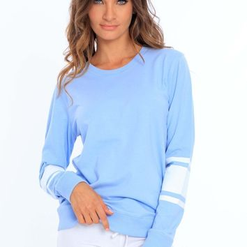 Women's Crew Neck T-Shirt w/ Stripes