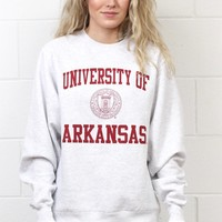 U of A Crest Sweatshirt {Ash}