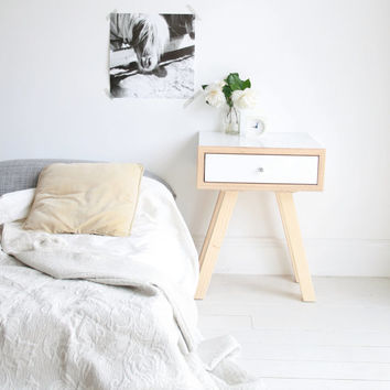 DOLLY DRAWER - midcentury modern bedside table, scandi