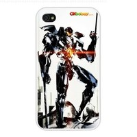 2013 Pacific Rim 4. Fashion Design Hard Case Cover Skin Protector for Iphone 4 4s Iphone4 At & T Sprint Verizon Retail Packing (White Pc + Pearlescent Aluminum) Fs-00258