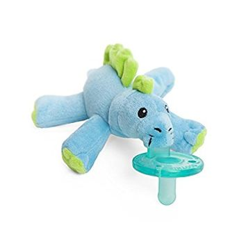 Wubbanub Brights Infant Pacifier - Baby Dino