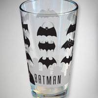 Batman Logo Evolution Pint Glass