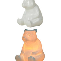 Ceramic Teddy Bear Glow Night Light