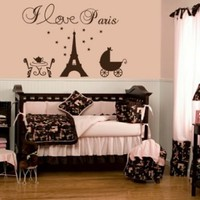 Paris Eiffel Tower Vinyl Wall Decal Baby Nursery