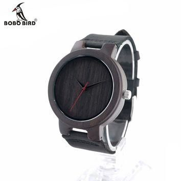 Top Quality Men's Black Sandal Wood Watches