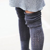 Free People Womens Blanket Pointelle Sock