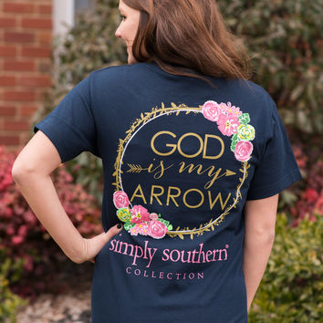 Simply Southern God is My Arrow Tee