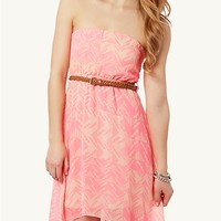 Neon Tribal High Low Dress