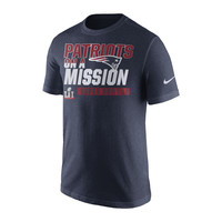 Men's New England Patriots Nike Navy Super Bowl LI Bound On a Mission T-Shirt