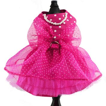 Pink Polka Dot Dog Harness Dress - CLOSEOUT!