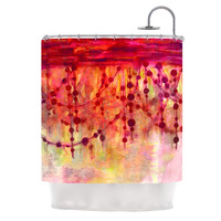 "Ebi Emporium ""Prismacolor Pearls"" Pink Orange Shower Curtain"