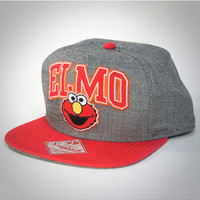 Elmo Arched Word Snapback Hat