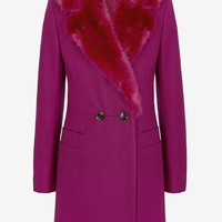 Salsa Faux Fur Collar Coat - Jackets & Coats - French Connection Usa