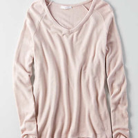 Don't Ask Why Plush V-Neck Sweater, Just Rosey
