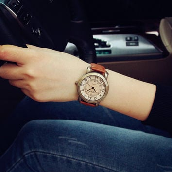 Comfortable Vintage Fashion Quartz Classic Watch Round Ladies Women Men wristwatch On Sales = 4662251396