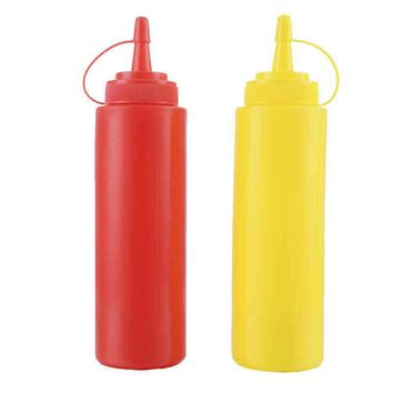 Ketchup BBQ Sauce Dispensing Bottles Squeeze Type Bottle with Cap Safe Silicone For Ketchup Jam Mayonnaise Olive Oil