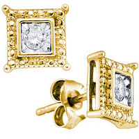 Diamond Fashion Earrings in Gold-plated silver 0.1 ctw