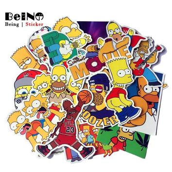 25pcs Simpsons Sticker anime cartoon Simpson cool waterproof suitcase boxes laptop guitar luggage bicycle toy cute stickers