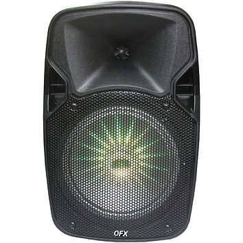 "Qfx 8"" Rechargeable Bluetooth Party Speaker"