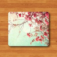 SAKURA Japan Autumn Forest Floral Mouse Pad Desk Pad Fabric Flower Symbol MousePad Personalized Rectangle Pad Matte Office Gift Computer Pad