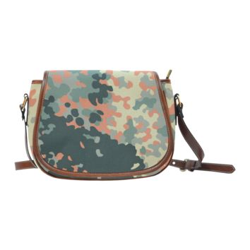 Women Shoulder Bag Cool Camo Pattern Saddle Bag Large