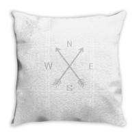 compas Throw Pillow